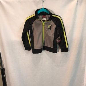 NWT kids size 18M full front zipper sport jacket